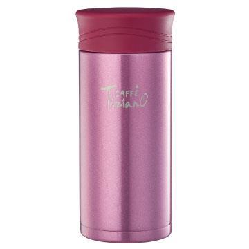 【拆封品】Tiziano 400ml不锈钢保温保冷真空杯-粉红(TA-H400CR)