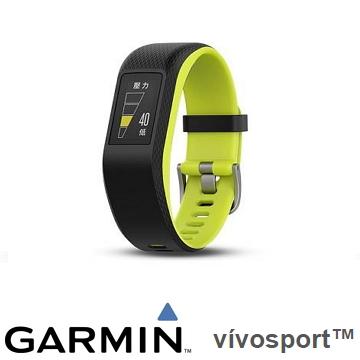 【大】Garmin Vivosport GPS智慧心率手環 -  萊姆綠