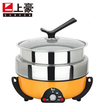 上豪3.5L三層火烤料理鍋