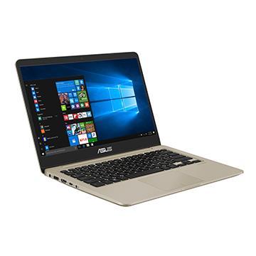 ASUS S410UQ-冰柱金 14吋FHD笔电(i5-8250U/MX 940/4G/1T)(S410UQ-0021A8250U)