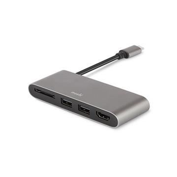 Moshi USB-C 多媒體轉接器-鈦灰