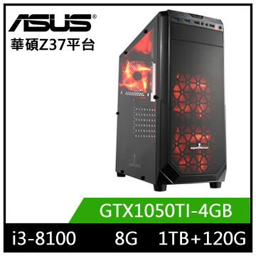 華碩Z370平台[鬥魂元帥]i3四核獨顯電玩機