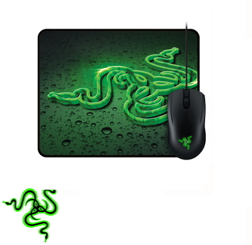 【速度版】雷蛇 Razer Abyssus 地狱狂蛇鼠标2000dpi + 鼠标垫组