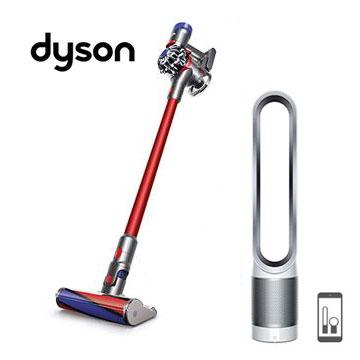 Dyson V7 SV11 无线吸尘器(红)+ TP03 智慧清净气流倍增器(白)()