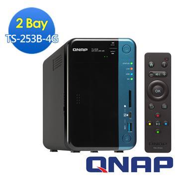 QNAP威聯通 TS-253B-4G網路儲存伺服器(TS-253B-4G)