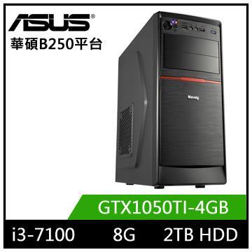 華碩B250平台[迅雷魔神]i3雙核獨顯電玩機