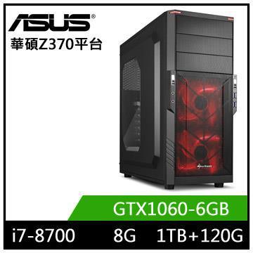 華碩平台[天行狂神]i7六核獨顯SSD電玩機