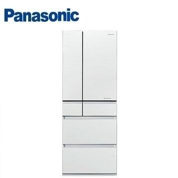 Panasonic 550公升六门变频玻璃冰箱(NR-F553HX-W1(翡翠白))