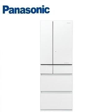 Panasonic 500公升六门变频玻璃冰箱(NR-F503HX-W1(翡翠白))