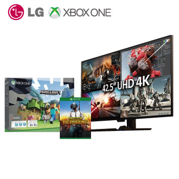 「特典限定」【43型】LG 43UD79 4K液晶IPS顯示器 + 【500G】XBOX ONE S主機 我的世界