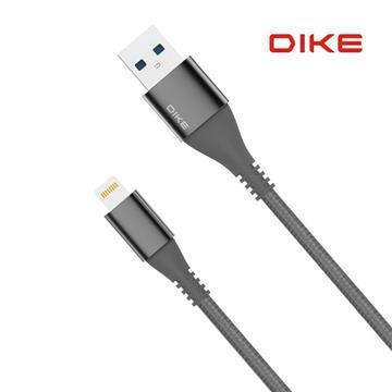 DIKE强化SR AppleMFI快充编织线20CM - 黑(DLA102BK)