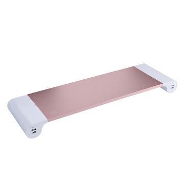 T.C.STAR USB鋁合金鍵盤螢幕收納架-玫瑰金
