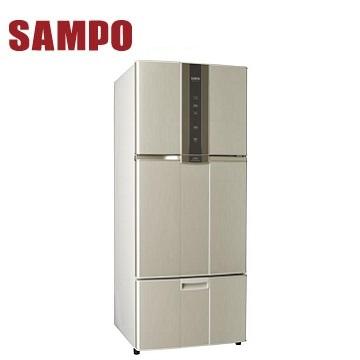 聲寶 530公升三門變頻冰箱(SR-A53DV(Y2)炫麥金)