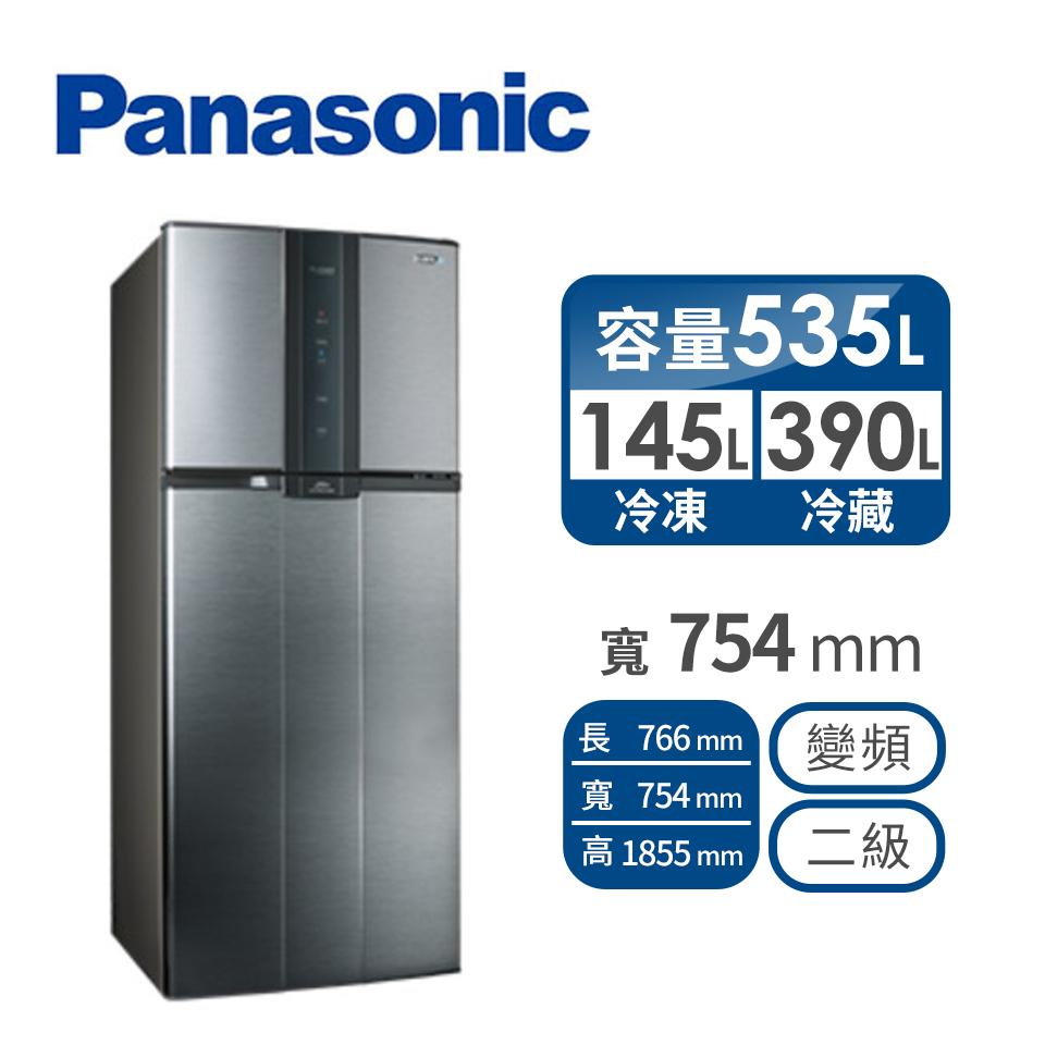 聲寶 530公升雙門變頻冰箱 SR-A53D(K3)漸層銀