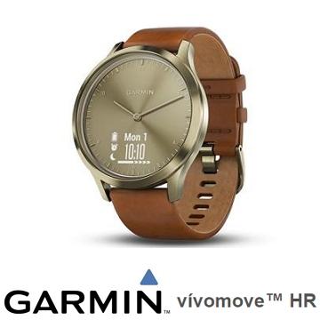 Garmin vivomove HR腕式心率指針腕錶 - 復古金