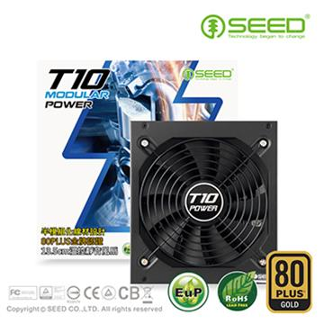 """""""送固态硬盘组""""【金牌 80 Plus】SEED种子 T10电源供应器 650W(AS-650W)"""