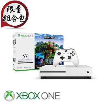 """""""限量同捆组""""【500G】XBOX ONE S 主机 我的世界探险家组合 Minecraft Complete Adventure(ZQ9-00308)"""