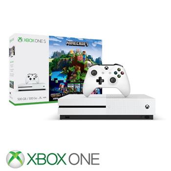 """""""同捆组""""【500G】XBOX ONE S 主机 我的世界探险家组合 Minecraft Complete Adventure(ZQ9-00308)"""