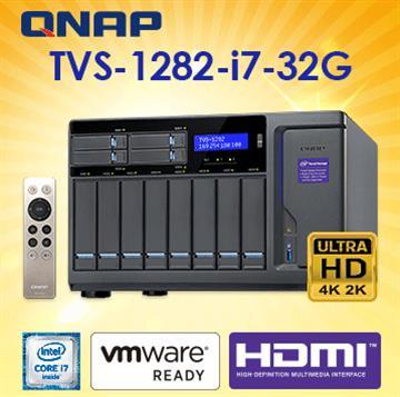 QNAP威聯通TVS-1282-i7-32G網路儲存伺服器(TVS-1282-i7-32G)