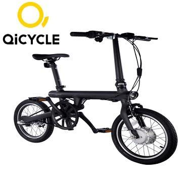 QiCYCLE騎記電助力折疊自行車 - 騎士黑