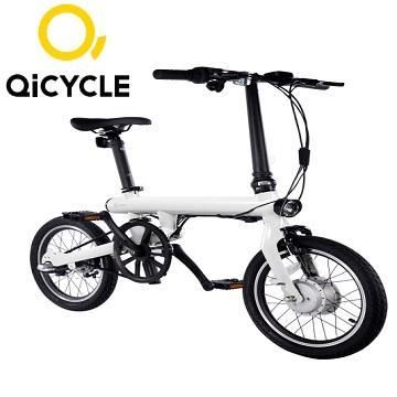 QiCYCLE騎記電助力折疊自行車 - 簡單白