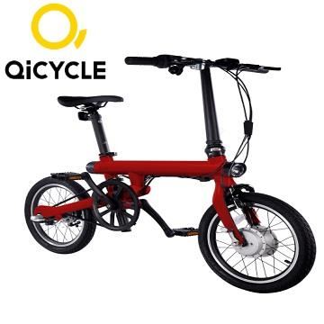 QiCYCLE騎記電助力折疊自行車 - 時尚紅