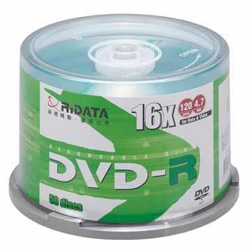RIDATA 16X DVD-R/50片桶裝