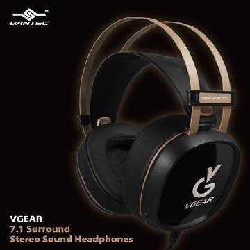 凡达克 VGEAR HS-100HR USB 7.1声道耳罩式耳机麦克风(HS-100HR)