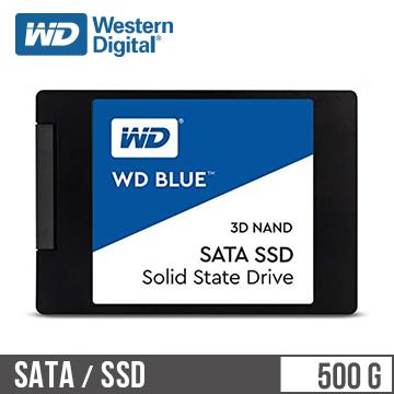 """WD SSD Blue系列-2.5""""500G固态硬盘(3D TLC)(WDS500G2B0A)"""