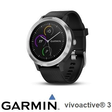 Garmin vivoactive3 腕式心率智慧手錶 - 俐落黑