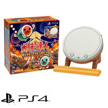 【同捆包】PS4 太鼓之达人合奏咚咚咚 太鼓の达人セッションでドドンガドン! - 中文版(PLAS10111)