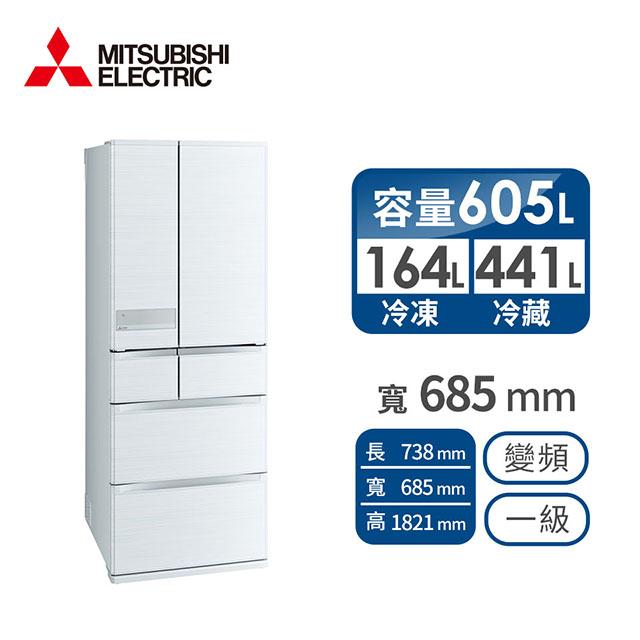 MITSUBISHI 605公升六门变频冰箱(MR-JX61C-W)