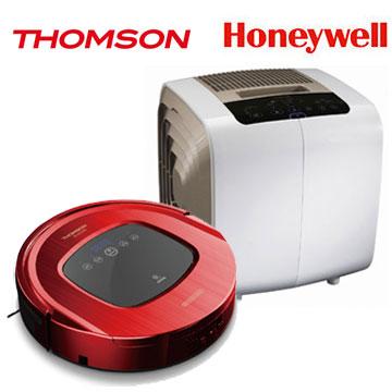 THOMSON 智慧型機器人掃地吸塵器+Honeywell 7-14坪抗敏益菌空氣清淨機