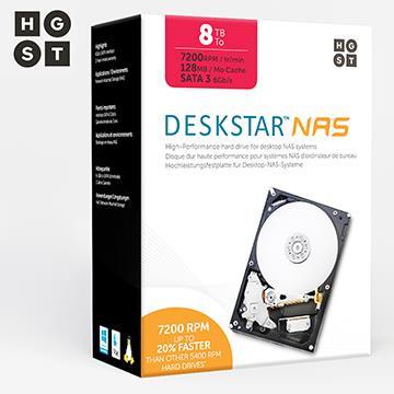 HGST DeskstarNAS系列 3.5吋 8TB NAS硬碟