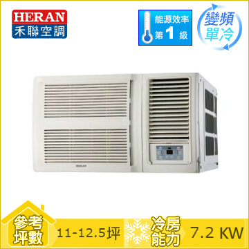 HERAN R32 窗型變頻單冷空調HW-GL72C