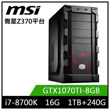 微星Z370平台【龍星帝王】i7六核獨顯電玩機(龍星帝王)