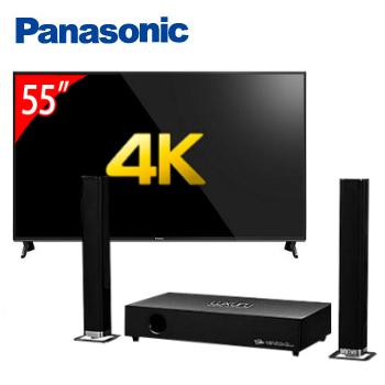 Panasonic 55型六原色4K智慧聯網顯示器+T.C.STAR藍牙微型劇院