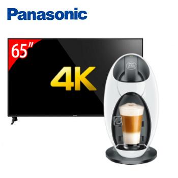 Panasonic 65型六原色4K智慧聯網顯示器+雀巢膠囊咖啡機-Jovia
