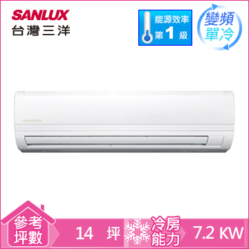 台湾三洋一对一变频单冷空调(精品型)(SAC-72V7)