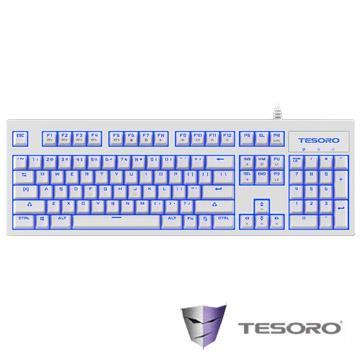 TESORO Excalibur V2鍵盤-白(紅軸/中文版)(G7NLV2(TW)W&RD)