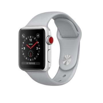 【LTE版 38mm】Apple Watch S3/銀鋁/薄霧灰運動錶帶