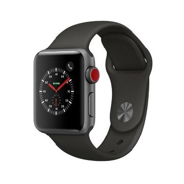 【LTE版 38mm】Apple Watch S3/太空灰鋁/灰運動錶帶