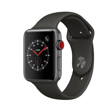 【LTE版 42mm】Apple Watch S3/太空灰鋁/灰運動錶環