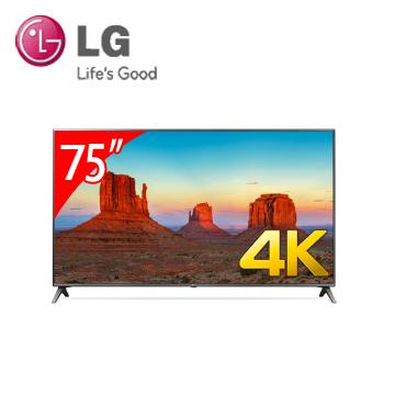 LG 75型广角4K IPS智慧连网电视(75UK6500PWB)
