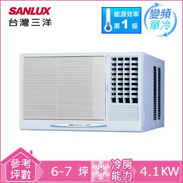 台湾三洋窗型变频单冷空调(右吹)(SA-R41VE1)