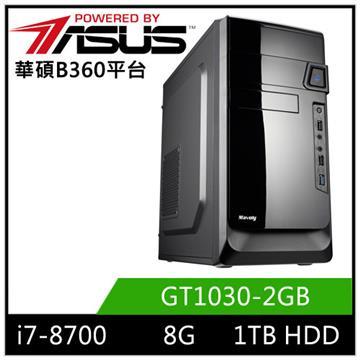 華碩B360平台[迅雷劍神]i7六核獨顯電玩機