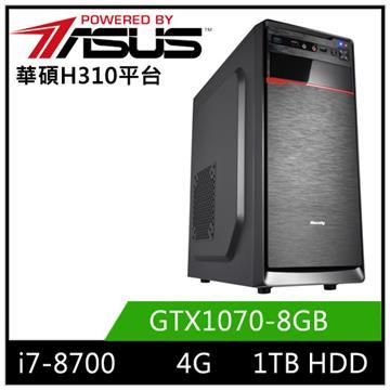 華碩H310平台[星震弓神]i7六核獨顯電玩機