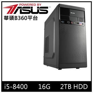 華碩B360平台[爆石戰神]i5六核電腦