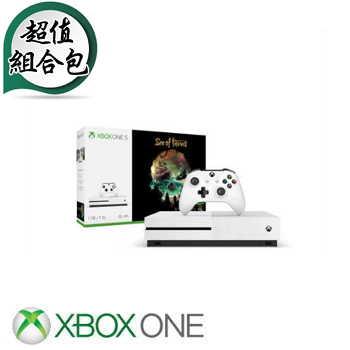 """""""萤幕限量包""""【1TB】XBOX ONE S 盗贼之海 Sea of Thieves 同捆组主机(234-00344)"""