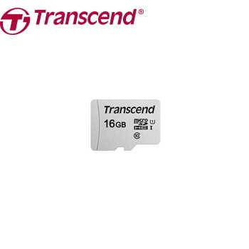 【U1 / 16G】創見 Transcend Micro SDHC C10 記憶卡(TS16GUSD300S)